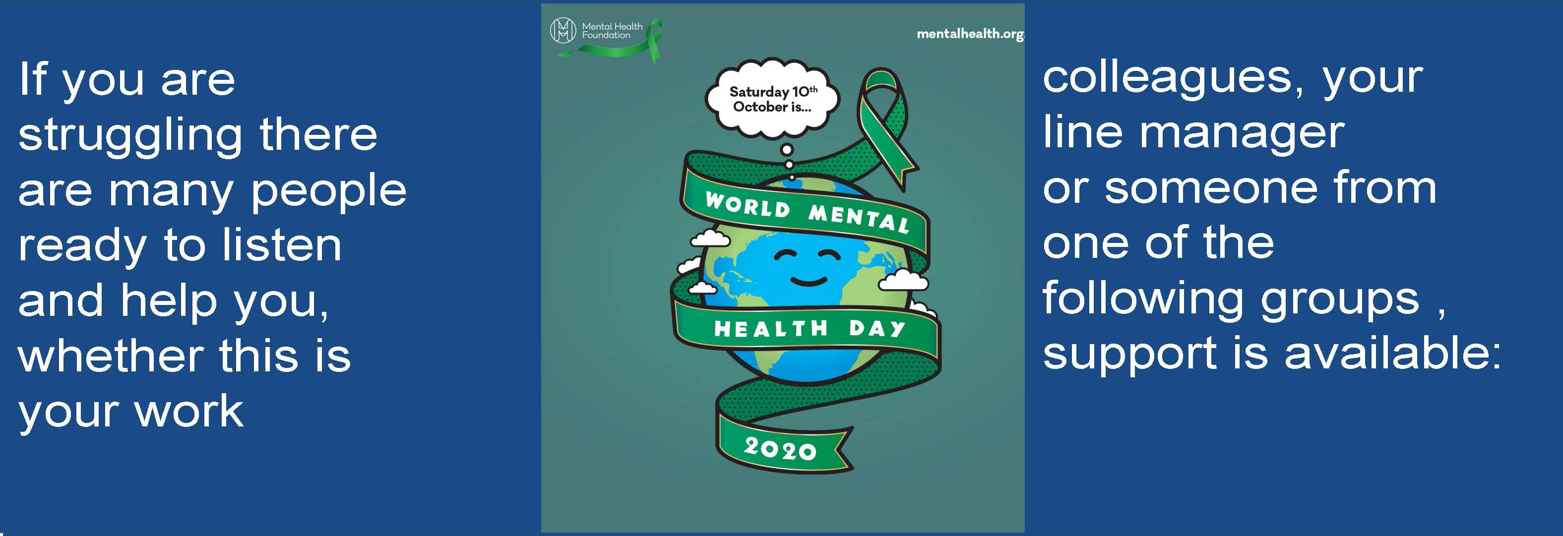 World Mental Health Day – 10th October