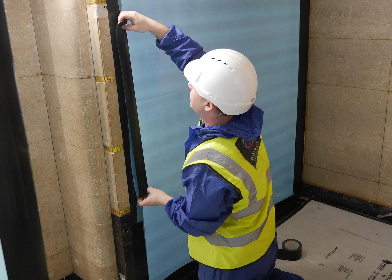 Asbestos removal preperation