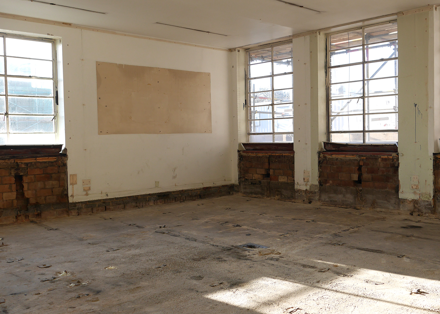 Strip out at Hornsey Town Hall